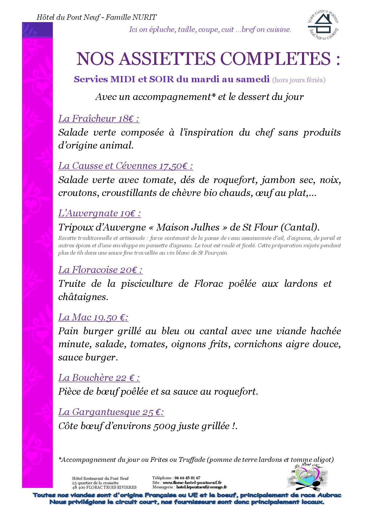 A4 - 4 PAGES - MENUS 20203
