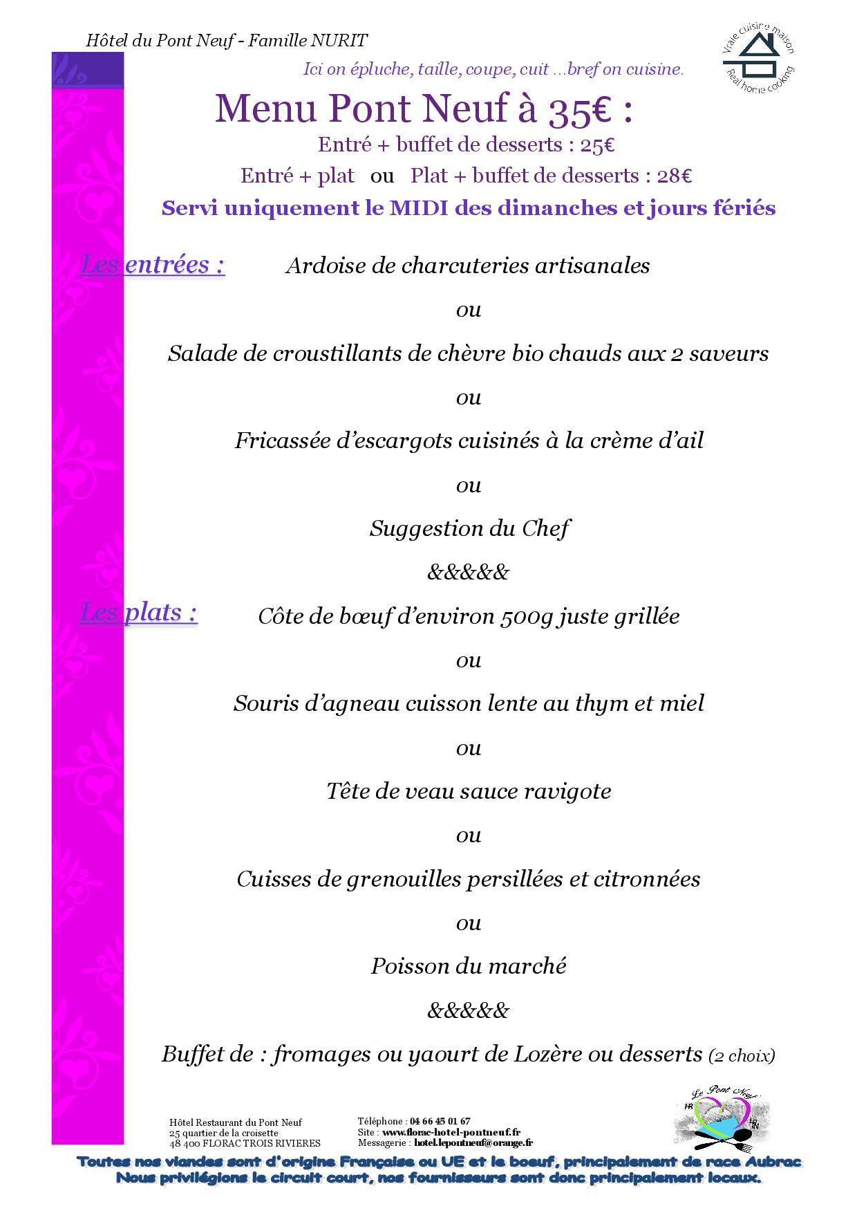 A4 - 4 PAGES - MENUS 20204